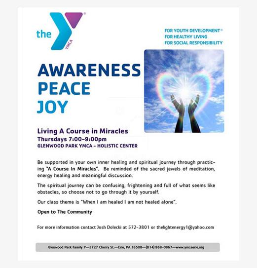 living a course in miracles group erie ymca