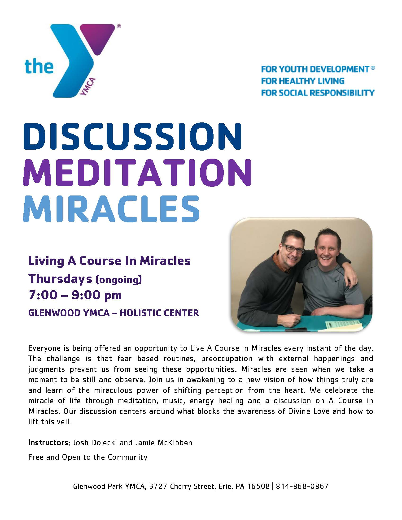 Flyer Living A Course in Miracles August 2019